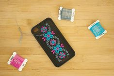 embroider an iphone