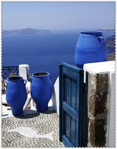 Aegean Sea blue... Santorini, Greece