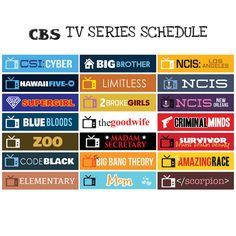 CBS US TV Series Fall 2016 207 Schedule // by FasyShop