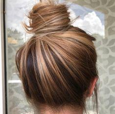 Lazy Day Hairstyles, Bun Hairstyles, Creative Hairstyles, Hairstyle Ideas, Hair Color Balayage, Hair Highlights, Haircolor, Ombré Hair, Blonde Hair