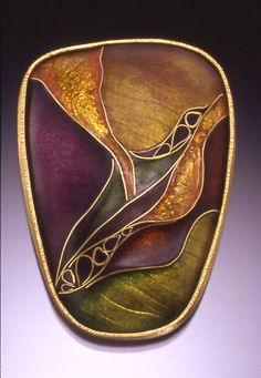 Druin Enamels-all of her work is inspiring to look at, do you see a betta fish in this one?