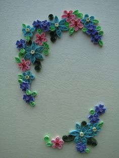Quilled Floral Border