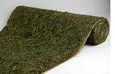 Save-On-Crafts moss roll sheets, made with preserved green sphagnum moss, add a verdant touch to event tables. They can be used as placemats or table runners for garden-themed events. Cost: $25 per roll; save-on-crafts.com