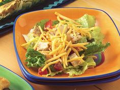 Quick and easy Seven-Layer Chicken Taco Salad