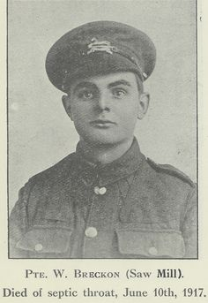W Breckon: one of the many men from our York factory who gave their lives in the First World War.