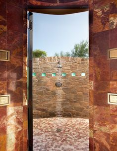 Outdoor Shower Ideas with Pavers   Landscape Design Ideas, Pictures, Remodels and Decor
