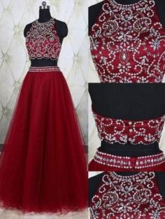 Prom Dress For Teens, Fashion A-Line/Princess Jewel Tulle Sleeveless Beading Floor-Length Two Piece Dresses cheap prom dresses, beautiful dresses for prom. Best prom gowns online to make you the spotlight for special occasions. Poofy Prom Dresses, Black Prom Dresses, Ball Gowns Prom, Tulle Prom Dress, Prom Party Dresses, Bridesmaid Dresses, Quinceanera Dresses, Wedding Dresses, Affordable Prom Dresses
