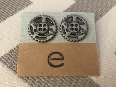 Large Steampunk Cog Earring Studs by Gingerproducts on Etsy https://www.etsy.com/listing/494531188/large-steampunk-cog-earring-studs