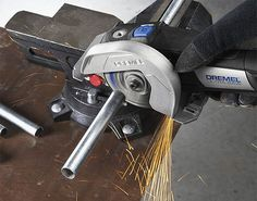 Dremel Ultra-Saw - It uses 3.5 & 4-inch blades to cut metal, make flush cuts in wood, and even works as a grinder/surfacer.
