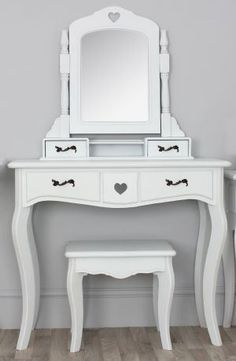 New Dressing Table W Mirror Amp Stool White Victorian