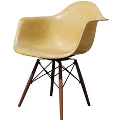 Zenith Rope Edge Swivel PAW Armchair by Charles and Ray Eames | From a unique collection of antique and modern chairs at https://www.1stdibs.com/furniture/seating/chairs/