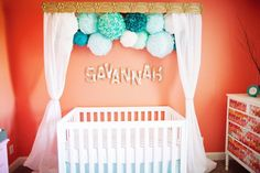 ok, definitely wouldn't be my choice in colors, but Iove the idea of putting the pom poms with a valance and drapes...plus, gotta love that name @Amanda Elwell!!