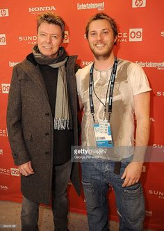 David Bowie and Director Duncan Jones attends the premiere of 'Moon' during the 2009 Sundance Film Festival at Eccles Theatre on January 23, 2009 in Park City, Utah.