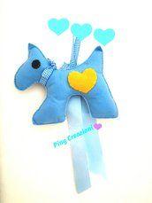Cagnolino azzurro fuoriporta decorazione culla, by Piny Creazioni
