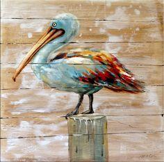 Tierbild - Pelikan - Vogelgemälde - Martin Klein