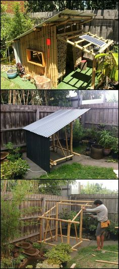 How To Build Your Own Bamboo Cubby  http://theownerbuildernetwork.co/g8yj  Every kid always wants their only little getaway within the comfort of their own backyard.  This cubby is 1.2 x 1.2 meter building that has been built from bamboo and recycled colorbond roofing and timber.
