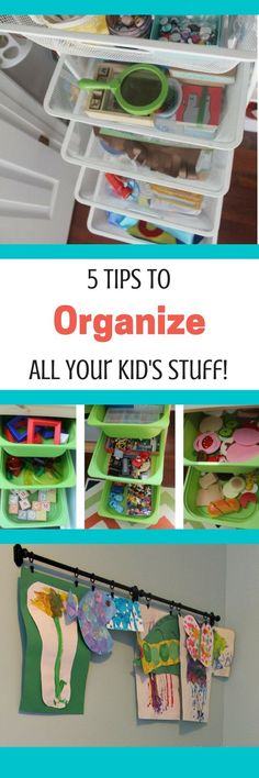 Organize your playroom in style! Great Ikea Hacks for organization of your kid's stuff.