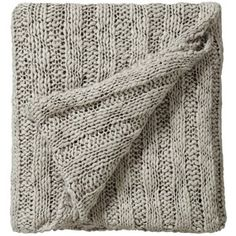 Bedeck Drift knitted throw 130x150cm stone