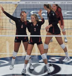 Rachel Williams Carly Wopat Hayley Spelman and Gabi Ailes Stanford Women's Volleyball Volleyball Setter, Volleyball Workouts, Play Volleyball, Volleyball Shirts, Coaching Volleyball, Women Volleyball, Softball Players, Girls Softball, Photography Poses