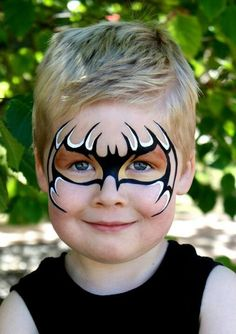 Easy halloween face painting ideas for cheeks can help you in adding so much fun to any party. Face painting is a very good as well as fun way Superhero Face Painting, Face Painting For Boys, Face Painting Designs, Body Painting, Bat Face Paint, Halloween Makeup, Halloween Face, Cheek Art, Kids Makeup