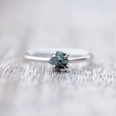 Princess Rebel // Raw Blue Diamond Ring