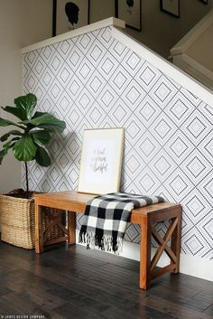 Removable wallpaper adds the perfect update to any monochrome bathroom. +72% YoY.