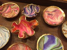 Fun and easy DIY project with oven bake clay/Sculpey and gold paint pens - great activity during school break and for gift giving  www.kurbo.com