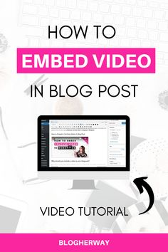 Easily engage your audience with video. Check out this tutorial on how to embed a Youtube video in your blog post in WordPress. Click to learn more (PLUS video tutorial) #bloggingtips #startablog Blog Sites, Blog Planner, Blogging For Beginners, Make Money Blogging, Writing Tips, How To Start A Blog, Wordpress, Boss Babe, Check