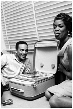 Quincy Jones and Sarah Vaughn, Paris, France, Jean-Pierre Leloir, photographer. Black History Album: The Way We Were. 100 Years of African American Vintage Photography from the end of slavery in the to the Black Power Movement of the. Easy Listening, Music Icon, My Music, Soul Music, Music Stuff, Musica Black, Montreux Jazz Festival, Quincy Jones, Pochette Album