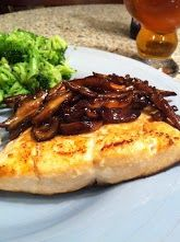 Week 8 of 52 - Broiled Salmon with Glazed Shiitake Mushrooms.  A keeper.  Wasn't sure how mushrooms would work with Salmon, but it was awesome.  Really Really liked this one a lot. (My Pic) - Ben