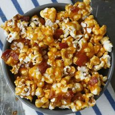 SPICY CARAMEL BACON POPCORN - EAT THIS and Change Your Life!