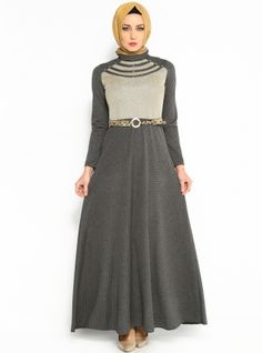 Arched Dresses - Gray - Dilay Moda