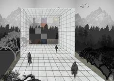 © Alba Koka  Inspired from Superstudio. #Radical_Studio #architecture #photomontage #grid #visualization #conceptual #photoshop #rendering