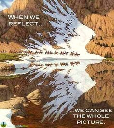 When we reflect ... .. we can see the whole picture
