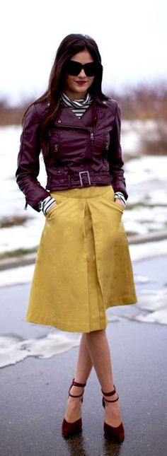 Jacket: H | Skirt: Corilynn | Heels: Lulu's