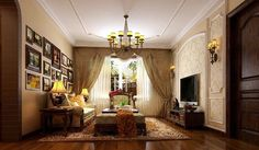 luxuriously decorated small apartment living room,Home Design Interior Furniture Inspiration. Wonderful Living Room. Great Open Spaces.