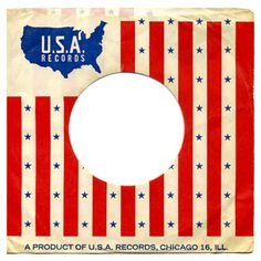 Vintage patriotic 45 record sleeve for U.S.A. Records, Chicago, IL