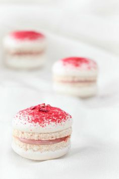 rosewater and raspberry macarons
