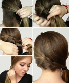 Cute easy Braided Side Ponytail Tutorial for long to medium hair.
