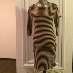 Xhilaration Striped Bodycon Dress Super sexy, stretch, striped dress with back zipper detail. Cotton/Spandex. Machine wash. Xhilaration Dresses Midi