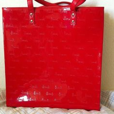 Harrods souvenir tote bag Red. Glossy. With harrods prints tote bag harrods Bags Totes