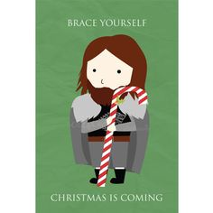 Game of Thrones Christmas Cards by craftedvan on Etsy, $4.00