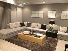 リビングルームコーディネート|人数が多くも、ゆっくり寛げる大きなソファで、家族や友人と会話を楽しむ。