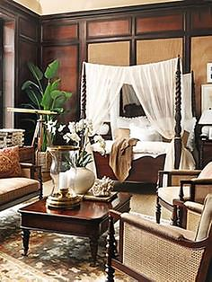 Tropical Colonial Style Bedroom Furniture