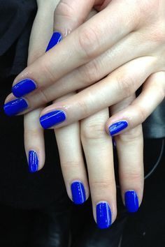 YSL blue nails. @thecoveteur