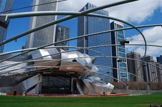 Pritzker Pavillion (Frank Gehry) #Chicago #RealEstate #Architecture