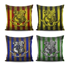 Harry potter pillow gryffindor pillow slytherin by NiviaWorkshop