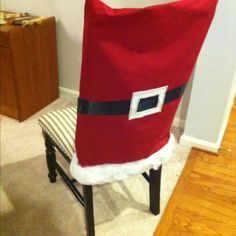 Cute Santa chair covers: Christmas Sewing, Felt Christmas, Christmas Holidays, Christmas Projects, Christmas Crafts, Christmas Ornaments, Festive Crafts, Christmas Ideas, Christmas Chair Covers