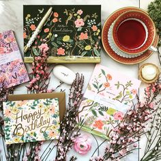 Stockists of the best range of Rifle Paper Co Stationery & Cards in the UK. Beautiful illustrations and attention to detail make their stationery truly unique! Rifle Paper Co, Stationery, Bloom, Parlour, Flowers, Cards, Spring, Instagram, Stationery Shop