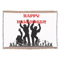 Halloween drooling zombie throw blanket - Halloween happyhalloween festival party holiday